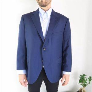 Peter Millar Blue Two Button Wool SportCoat Jacket
